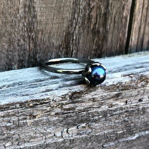 Pandora Stackable Blue Pearl Ring